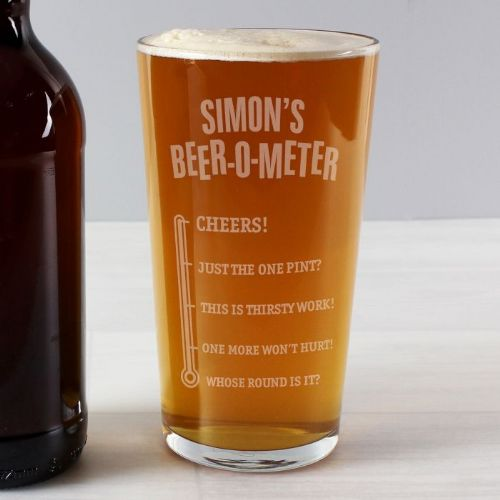 Beer-o-Meter Pint Glass